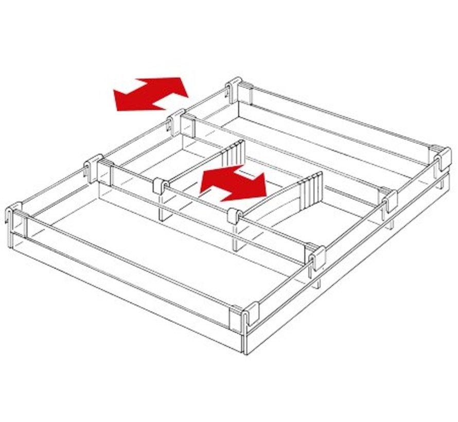 Lade indeling voor standaard lade 55mm hoog