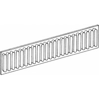 Drawer division rib profile and aluminum 100mm high