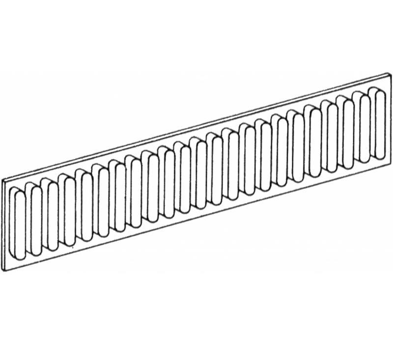 Lade indeling ribprofiel en aluminium 100mm hoog