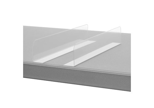 Divider with adhesive corner