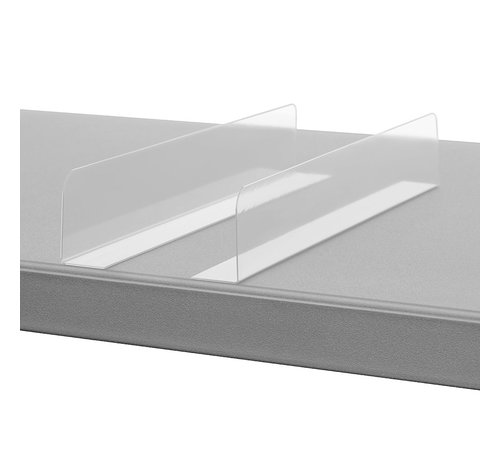 Divider with adhesive corner