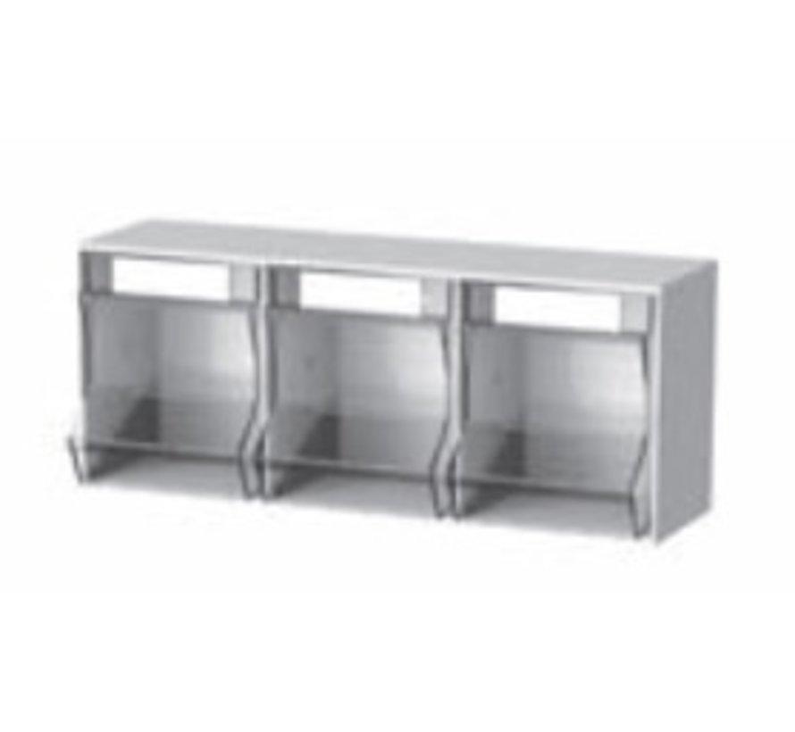 Pickbox 3 compartments 600x200x245 mm