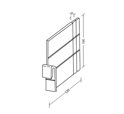 HapoH Divider for 55 mm profiles