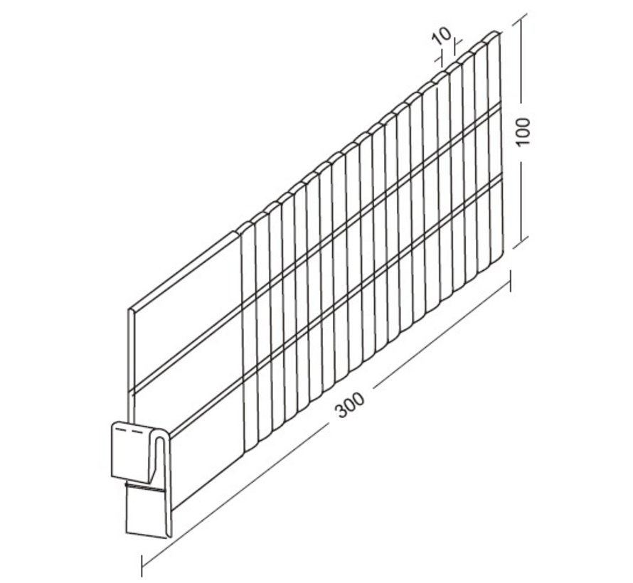 Divider for 55 mm profiles