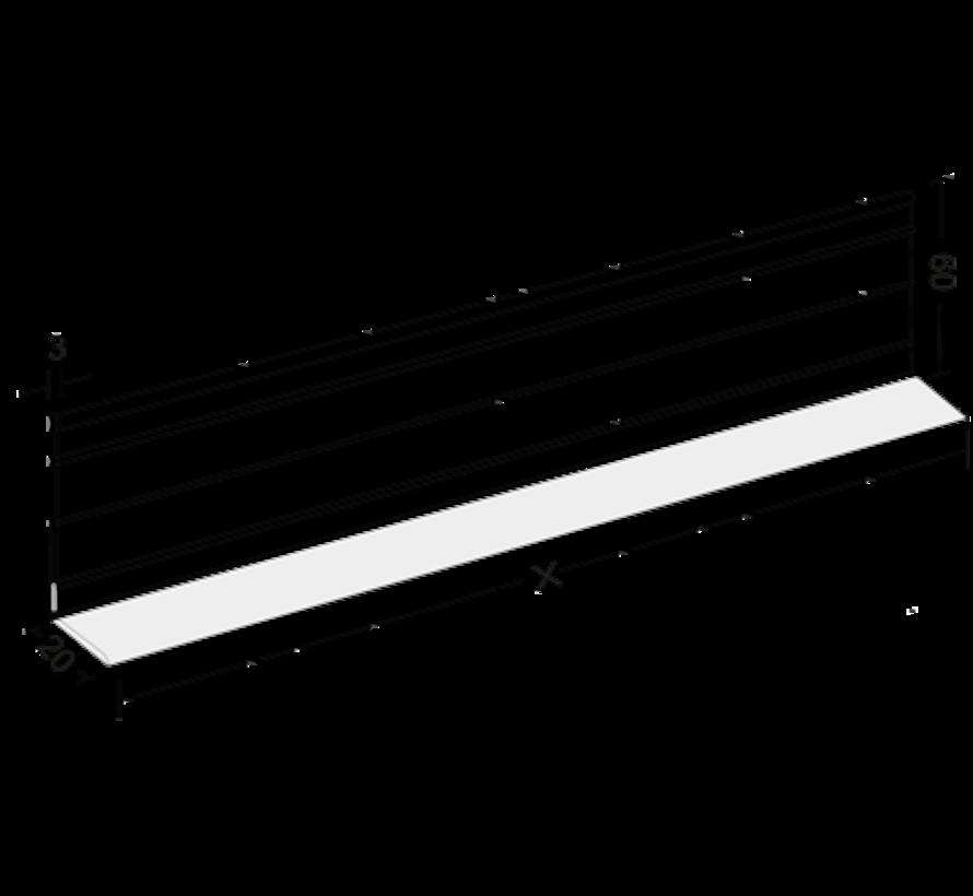 Hoekprofiel VSW 55mm op maat gezaagd