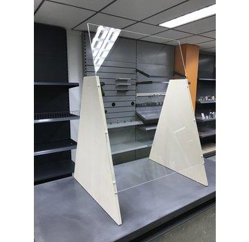 Premium Plexiglas veiligheidsscherm met voet