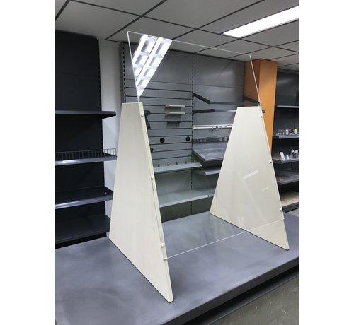 Premium Plexiglas veiligheidsscherm met voet voor balie of toonbank