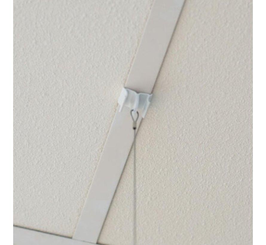 Ophangset voor plexiglas scherm voor systeemplafond