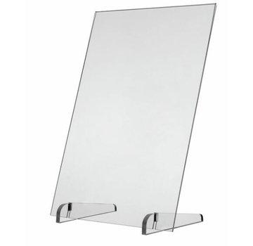 Plexiglas veiligheidsscherm met voet 420 x 594 mm