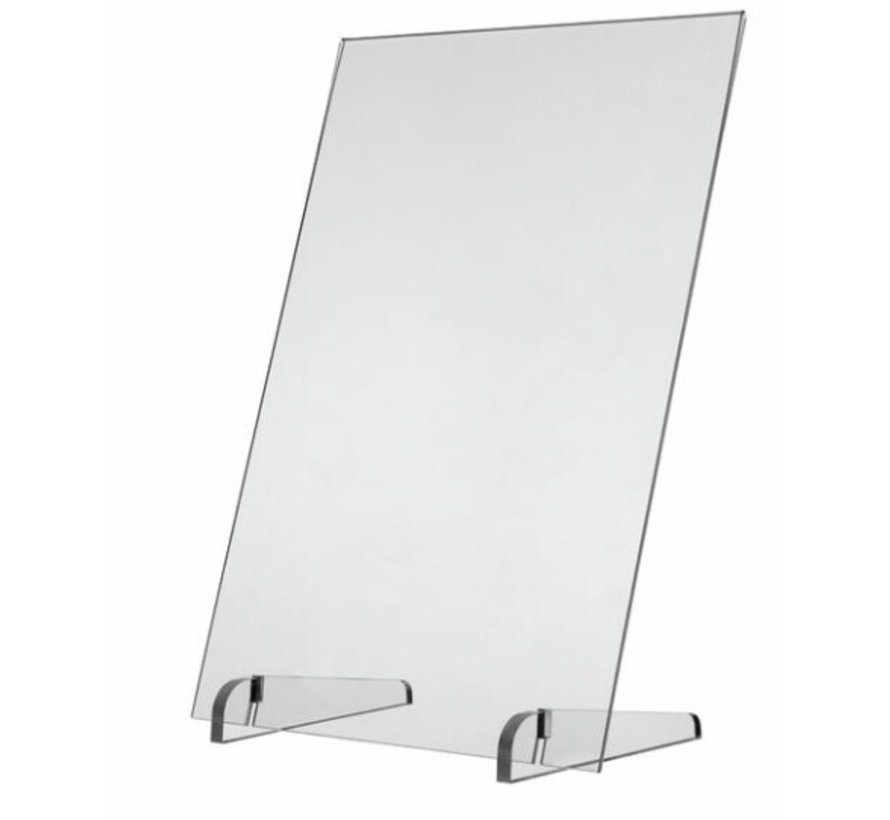 Plexiglass safety screen with base A2 format