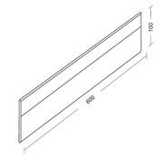 Extra lengte verdeler met clips ( plexiglas, hoogte 100mm )