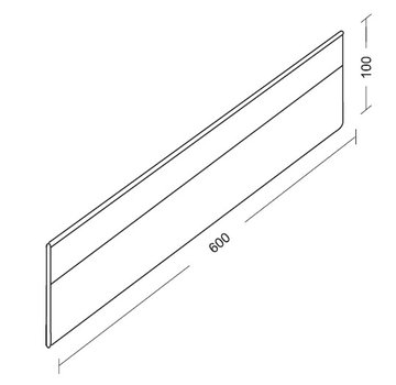 Extra length divider with clips (plexiglass, height 100mm)
