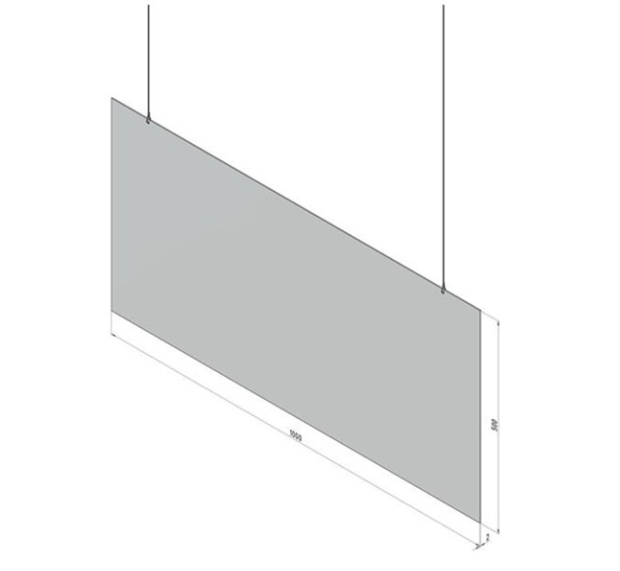Protective plate for ceiling suspension