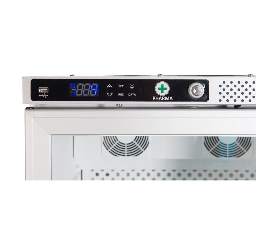 AKS 397 Medicine refrigerator Glassdoor with DIN58345