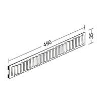 Rib profile 37 x 490 mm