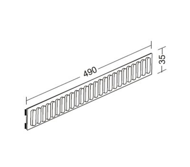 Slotted Rail 35mm