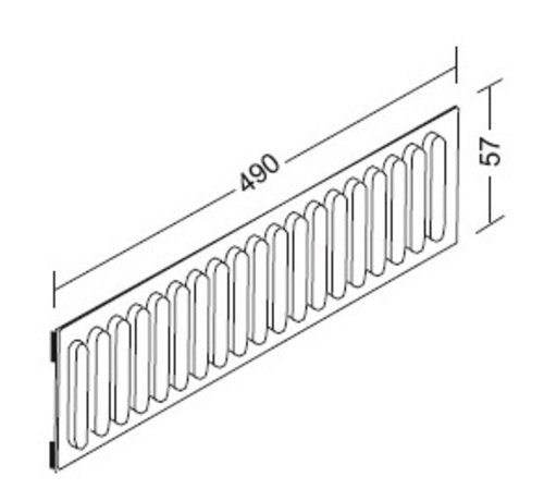 Slotted Rail 57mm