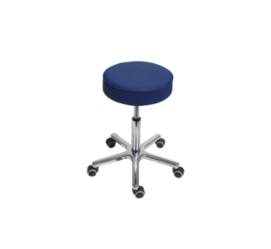 Work stool with gas spring height adjustment