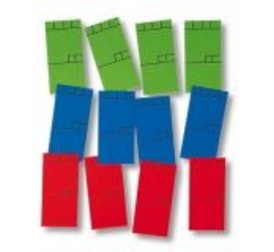 270 x Mini-card 50x25mm green