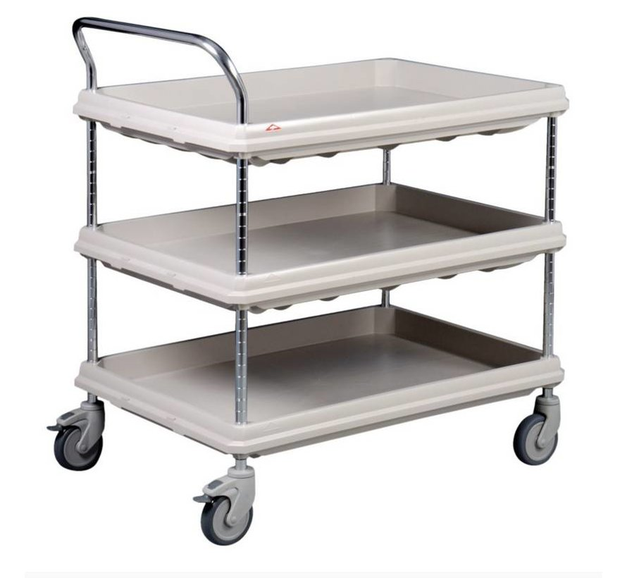Table top cart with 3 BC type trays