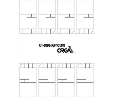 50 x 8 Minikaarten (Wit)