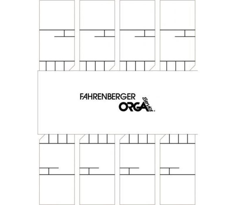 50 x 8 Minikaarten 50x25mm met kader ( wit )