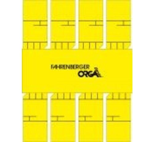 50 x 8 Minikaartent 50x25mm met kader (Geel)