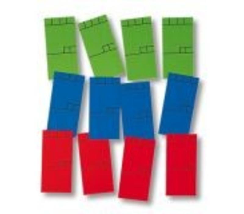 270 x Minikaart 50x25mm blauw