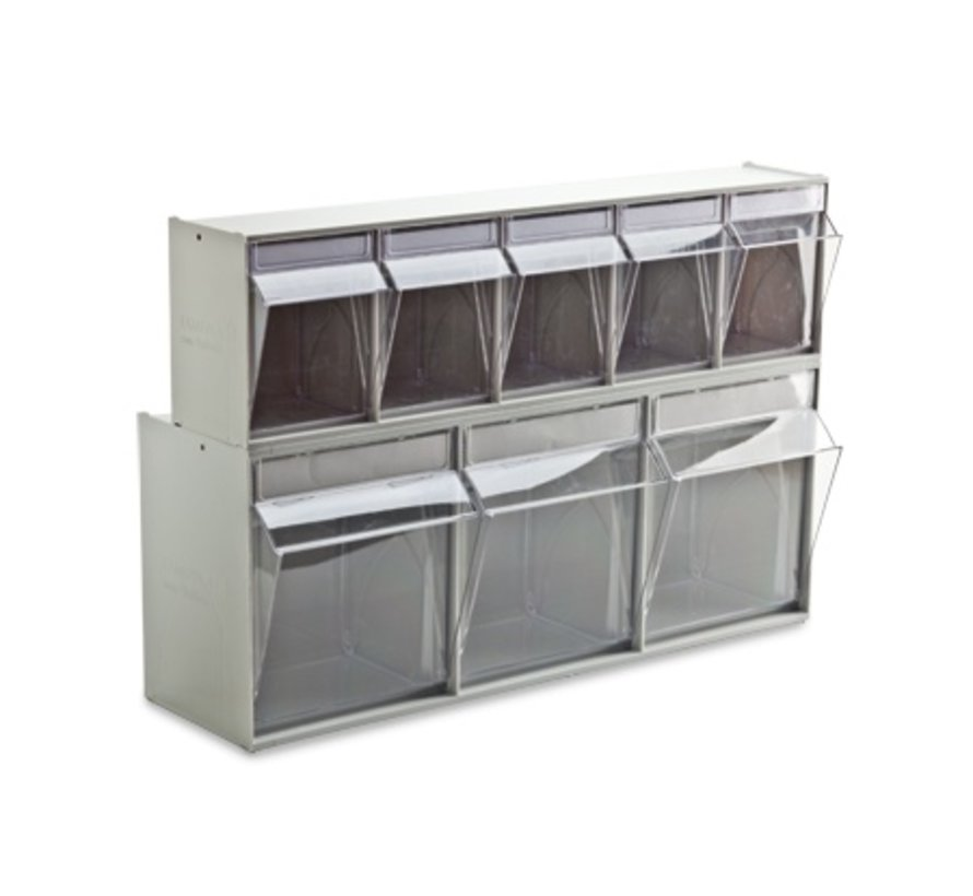 Tilting tray system 4-compartment 600x174x206 mm