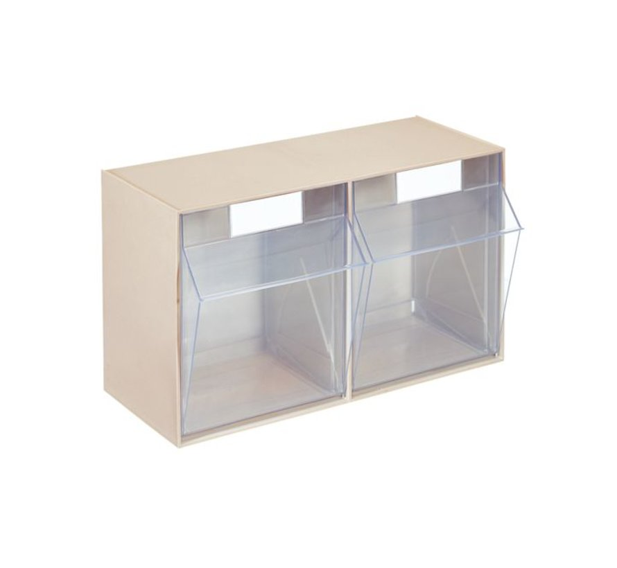 Tilting container system 2 compartments 600x299x353mm