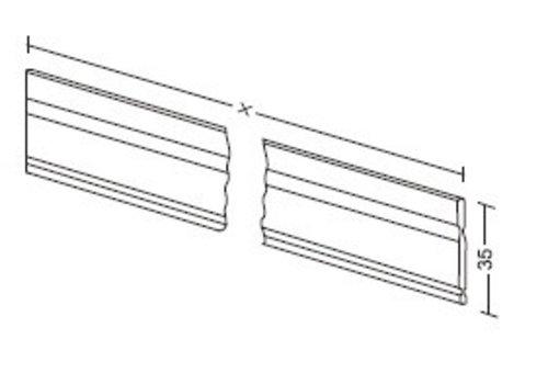 Aluminium lengte verdeler 35mm (op maat)