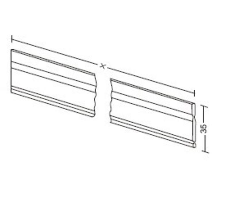 Aluminium lengte verdeler 35mm (op maat gezaagd )