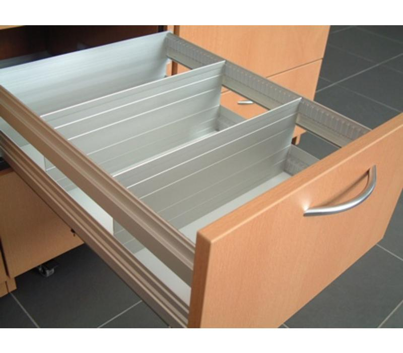 Aluminium lengte verdeler 100mm (op maat gezaagd )