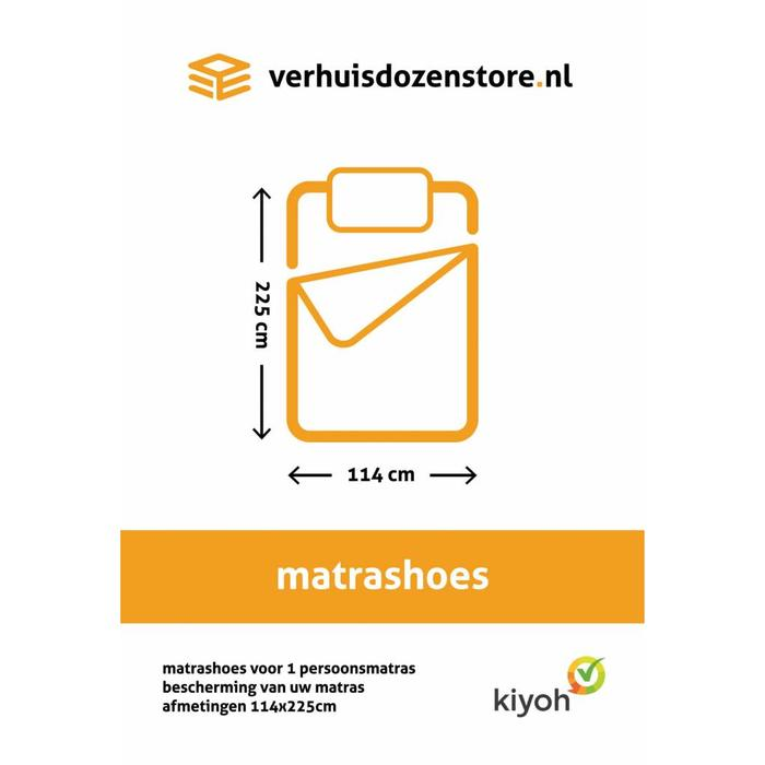 Matrashoes 1 persoons 225 x 114 cm