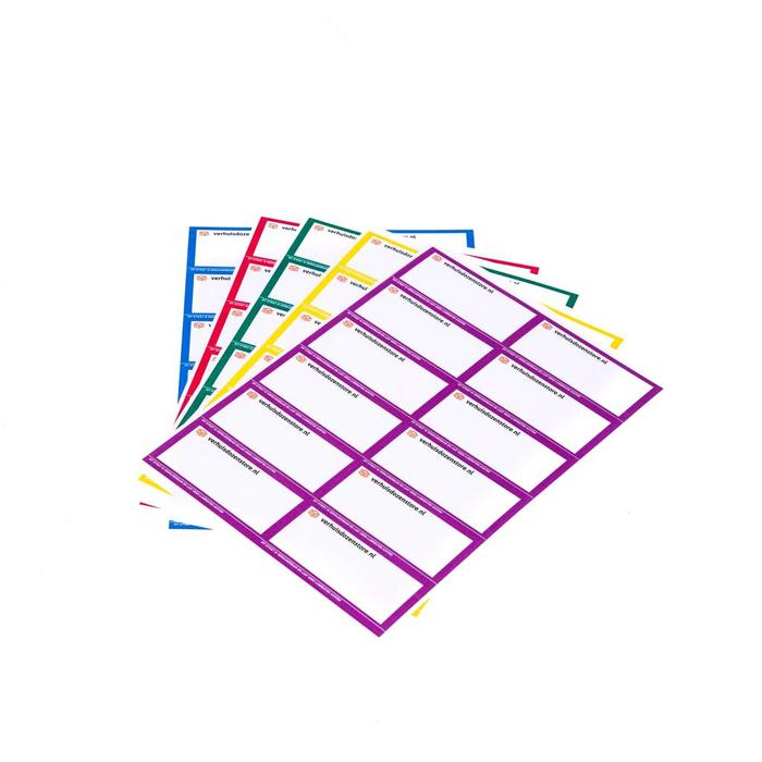 Verhuisstickers 5 kleuren