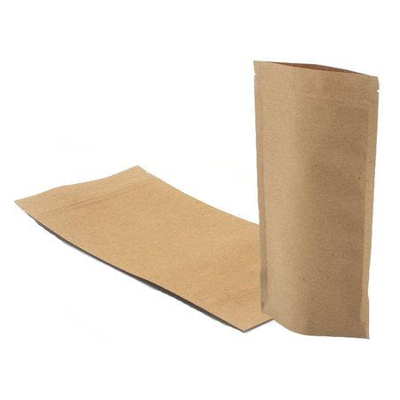 Stazakken kraft 130 x 190 + 30 mm (500ml) pakje van 100 stuks
