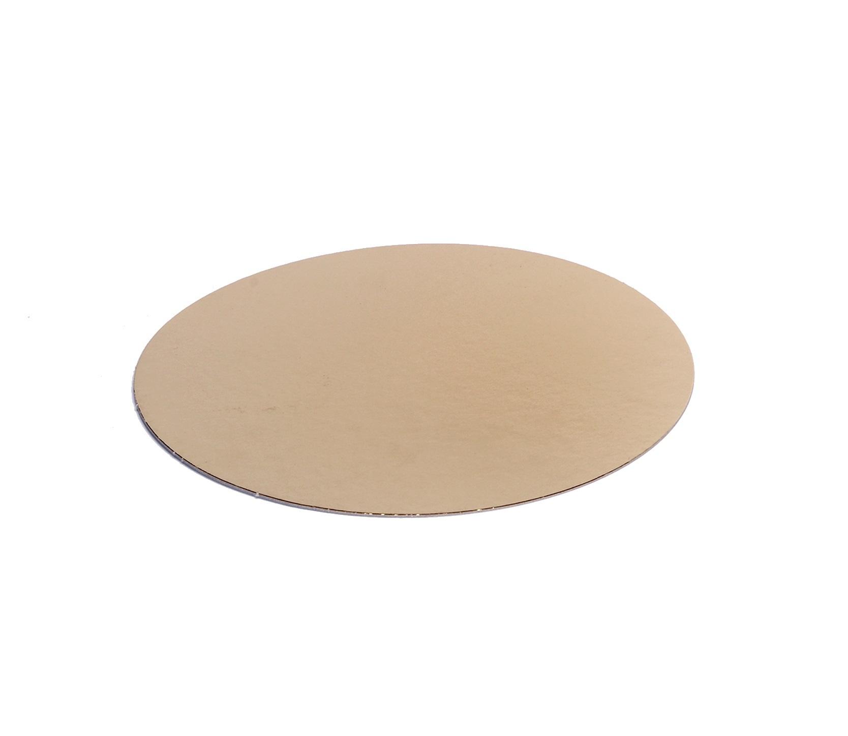 Kartonnen rondel zilver/goud Ø 110 mm pakje van 250 stuks