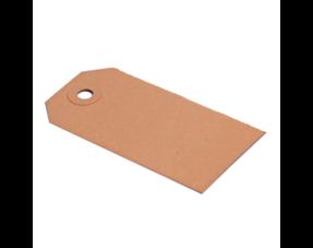 Labels uit bruin karton
