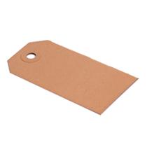 Labels (Nr. 0) 25 x 50 mm uit 200 grams bruin karton per 1000 stuks