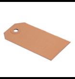 Labels (Nr. 1) 35 x 70 mm uit 200 grams bruin karton pakje van 1000 stuks