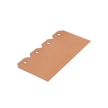 Labels (Nr. 9) 75 x 150 mm uit 200 grams bruin karton pakje van 1000 stuks