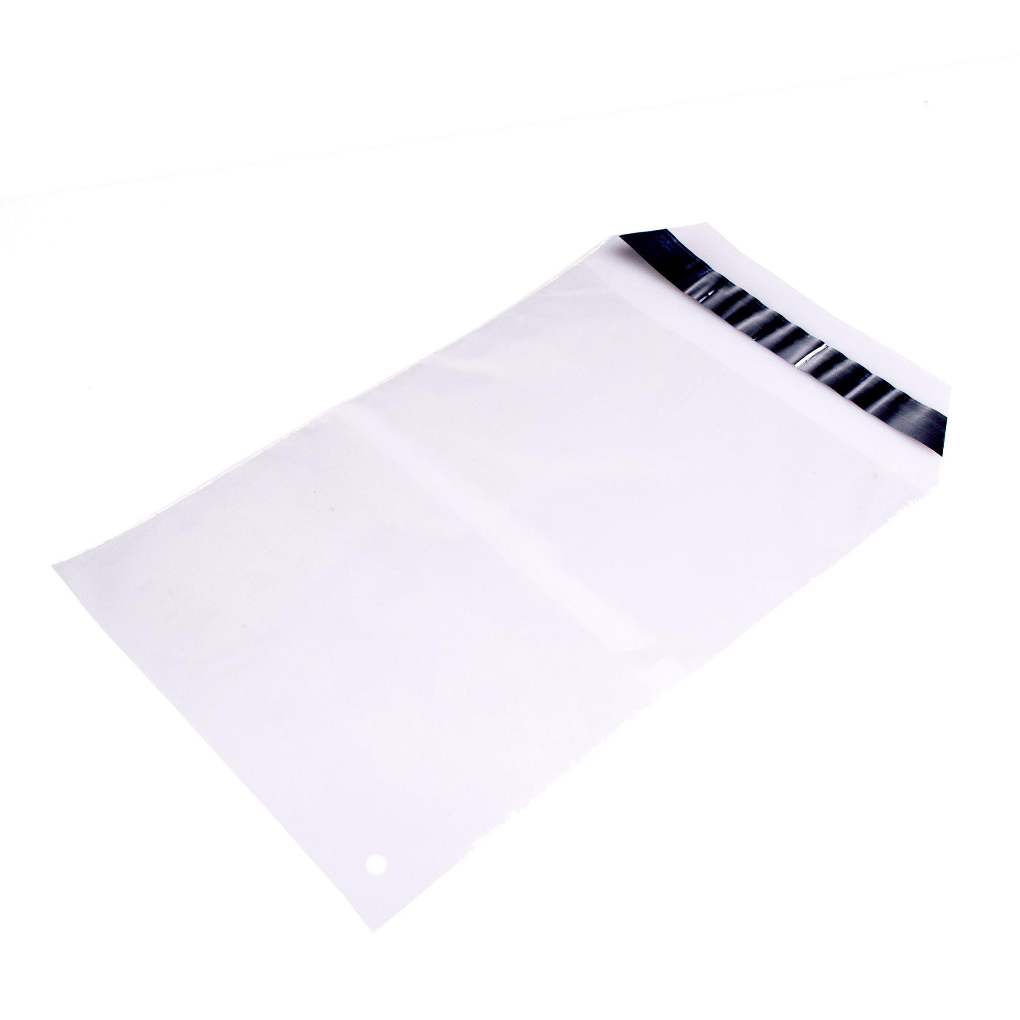 Mailing envelop 225 x 305 + 50 mm uit 45 micron LDPE pakje van 100 stuks