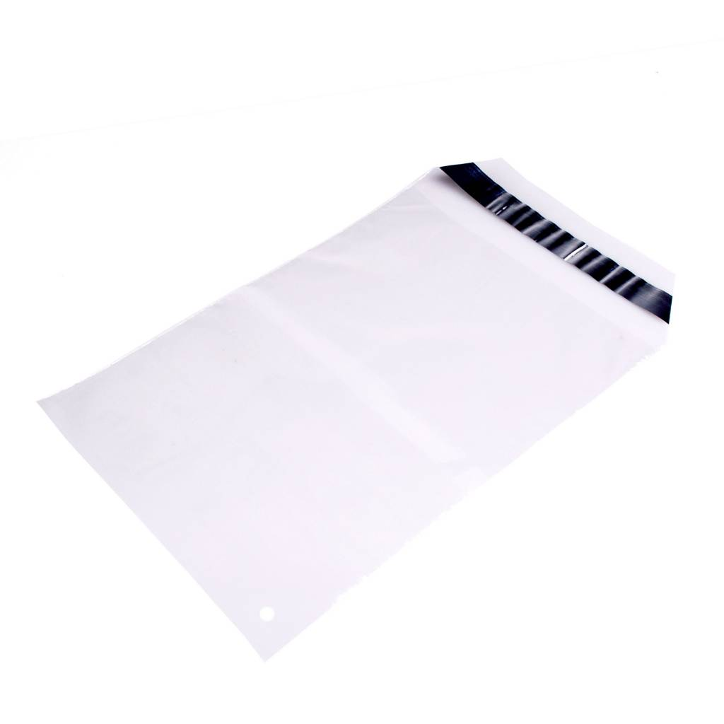 Mailing envelop 115 x 220 + 40 mm uit 45 micron LDPE pakje van 100 stuks