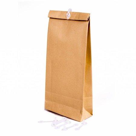 Monsterzak 100 x 245 x 40 mm 120 grams bruin pakje van 250 stuks