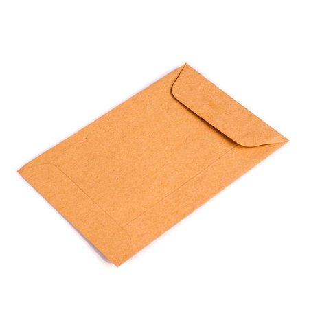 Bruine loonzakjes 65 x 105 mm uit 70 grams kraft pakje van 1000 stuks