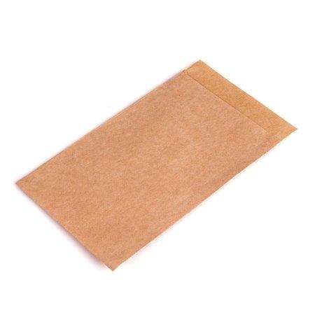 Zaadzakjes 75 x 102 + 16 mm bruin kraft 50 grams pakje van 1000 stuks