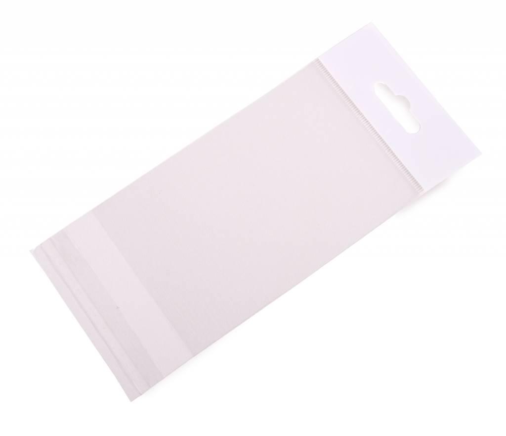 Headerbag 100 x 150 + 30 mm uit 30 micron OPP pakje van 100 stuks