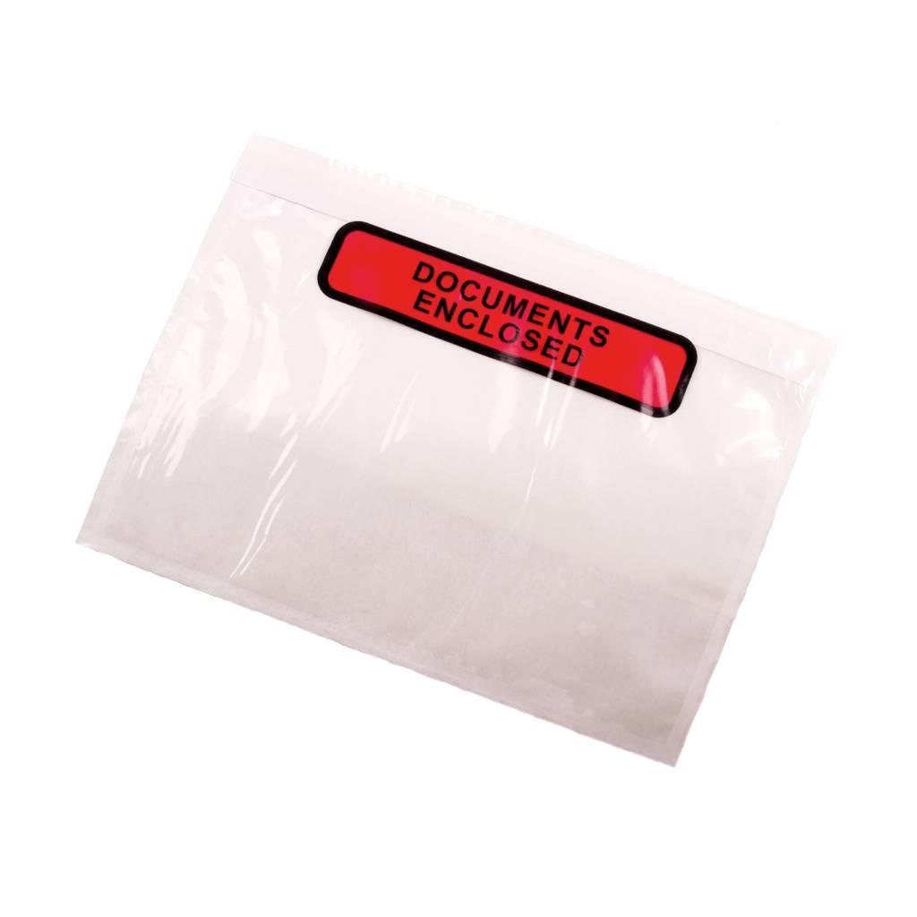 Paklijst envelop A6 Formaat - Documents Enclosed - pakje van 1000 stuks