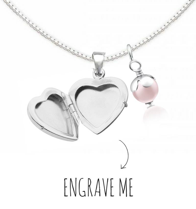KAYA jewellery Locket necklace with engraving 'Little Secret'