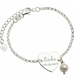 KAYA jewellery Silver Bracelet Front and Back Engraving